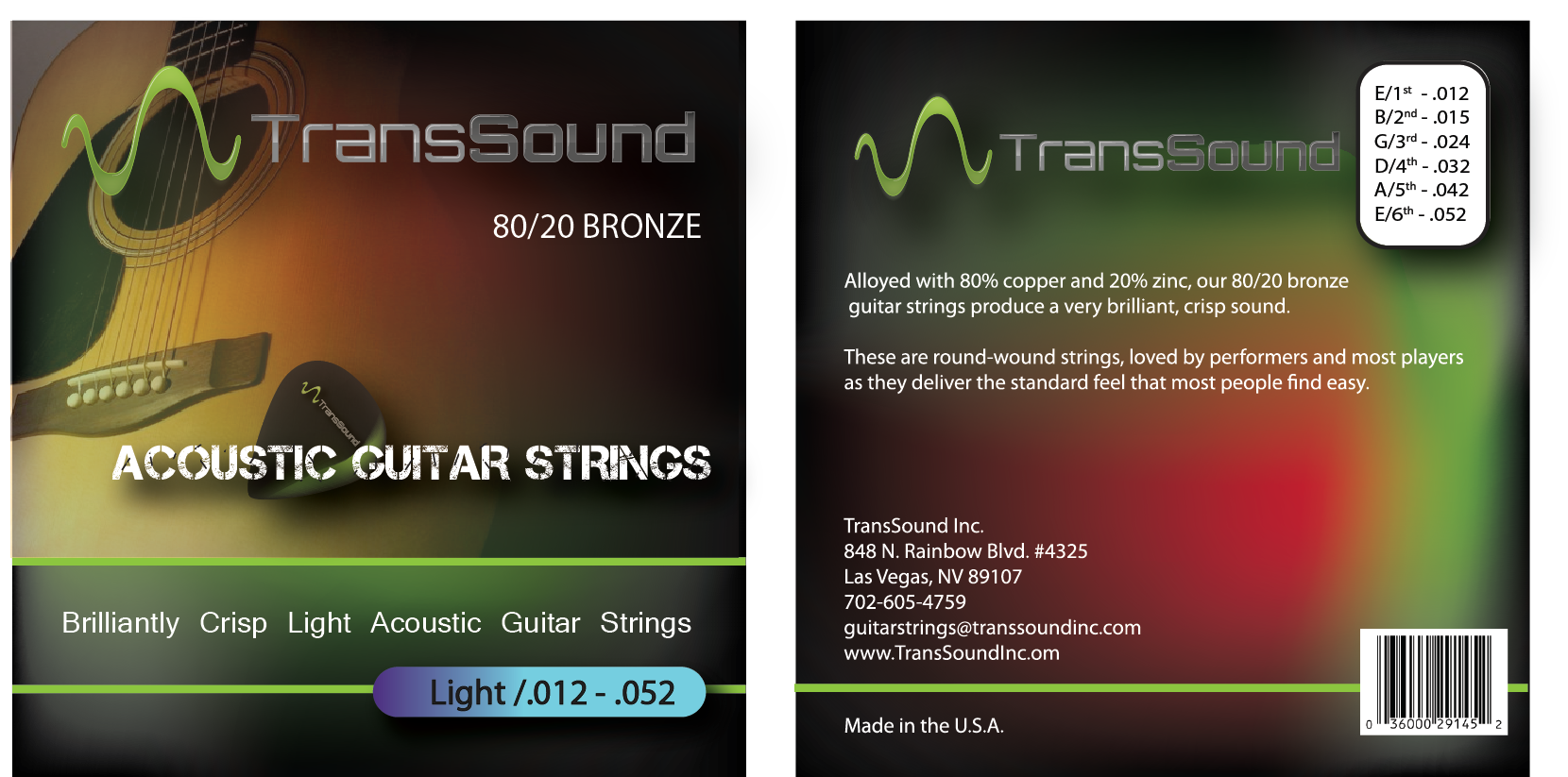 packaging or label design for TransSound Inc.