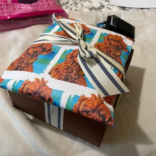 Poodle Portrait Wrapping Paper