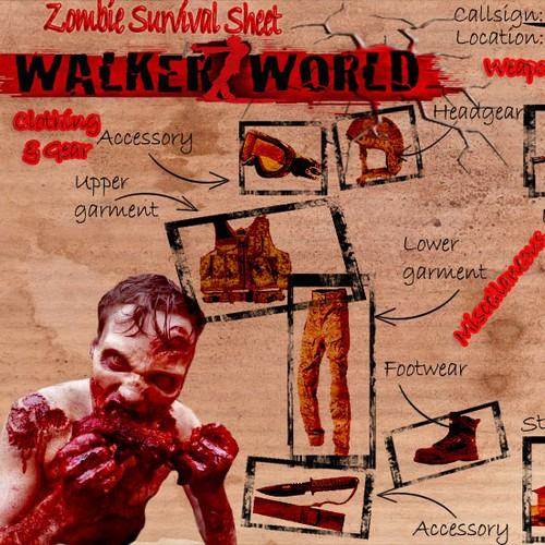 Create a Zombie survival template  for Walkerz World