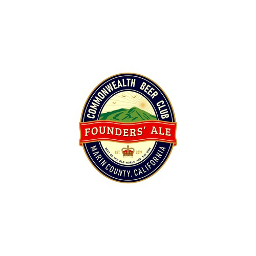 Logo for Founders' Ale - Commonwealth Beer Club, Marin County, California