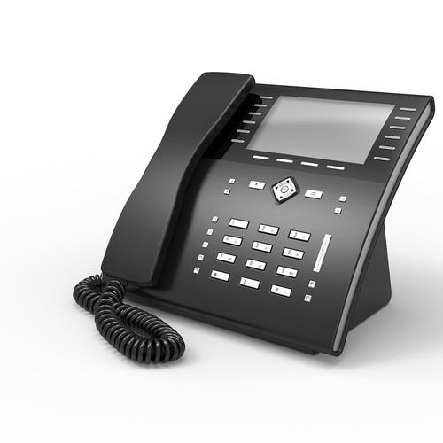 3D Voip Phone Concept Dark Grey