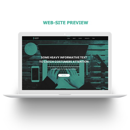Modern and creative eyecatcher homepage design for the next generation IT company
