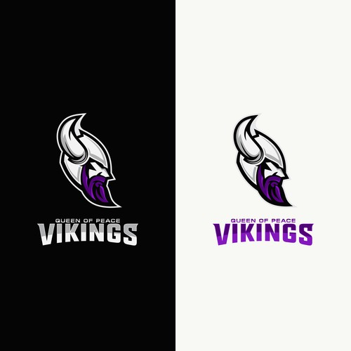 Bold Logo Concept For Queen Of Peace Vikings