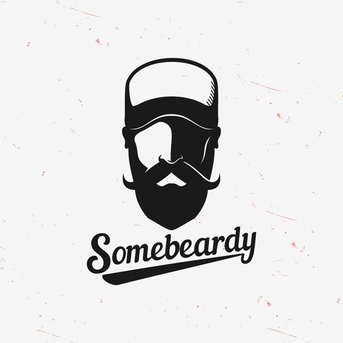 Simple and Clean Beardy Logo