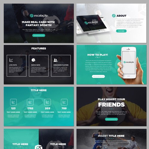 Powerpoint for Football Website