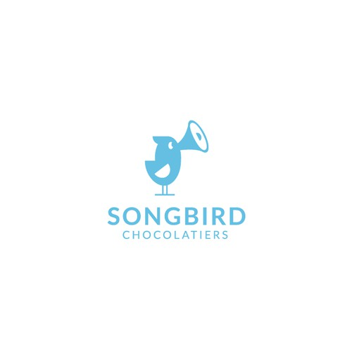 Playful logo for CBD truffles - Songbird Chocolatiers