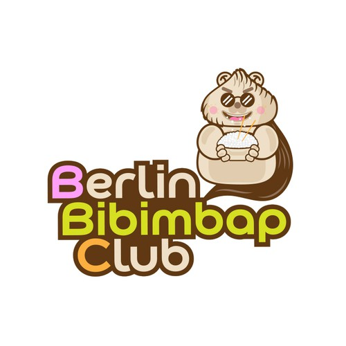 Logo variation for Bibimbap Club Berlin