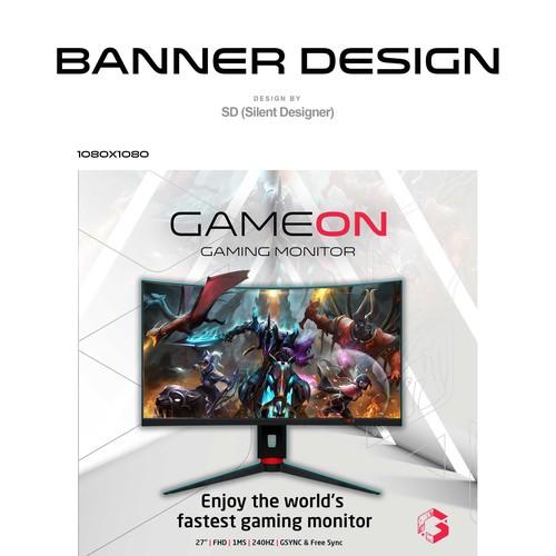 Gaming Monitor Banner