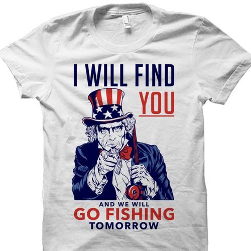 Funny fishing tshirt design.