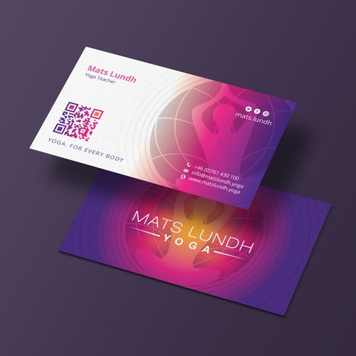 I made this business card design for Mats Lundh Yoga