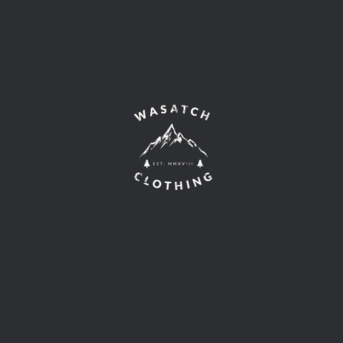 Vintage logo concept for Wasatch Clothing