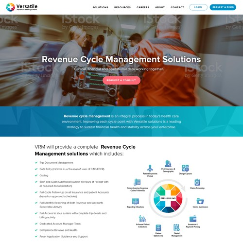 EMS Billing company homepage