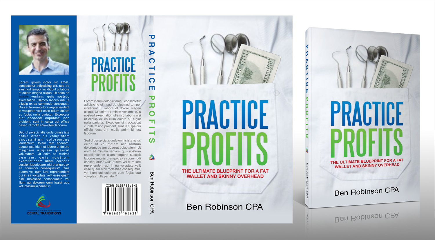 Create Business Book Cover Design written by an accountant to dentists