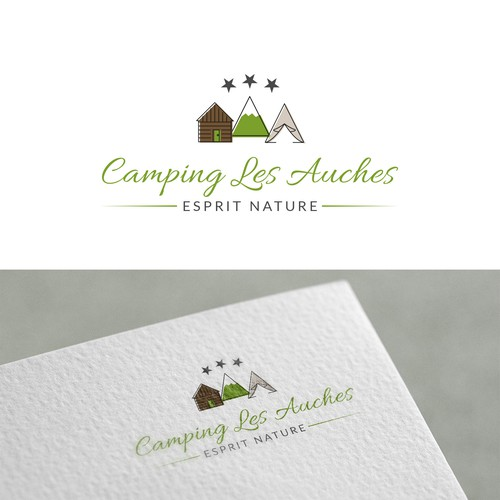 Logo concept for a campsite