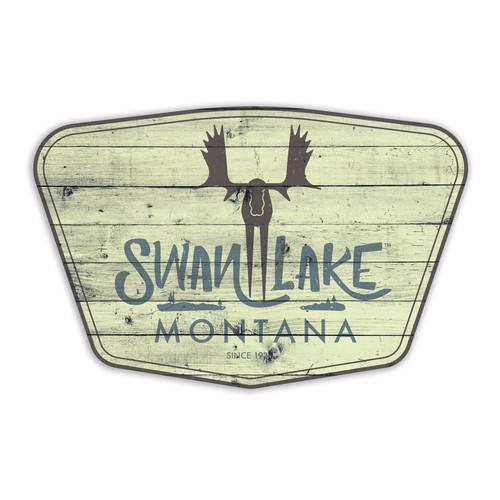 Swan Lake Vintage Sign