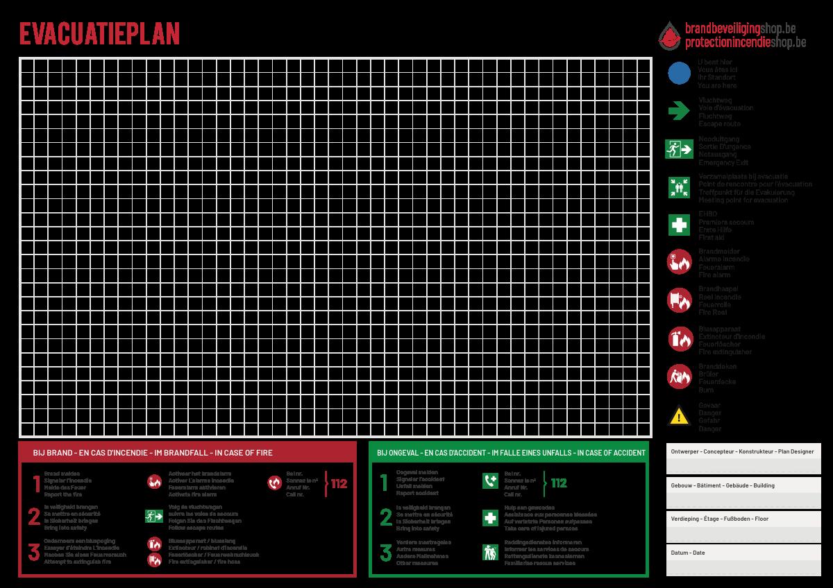 Design evacuation plan kit