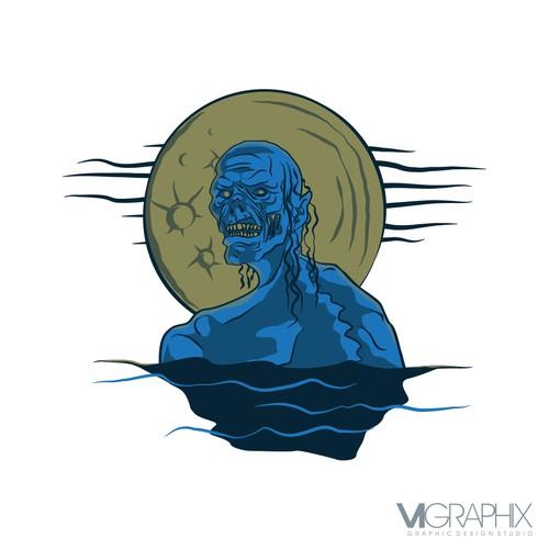 Sea creature graphic