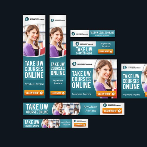 Create web banners for University of Wisconsin Independent Learning