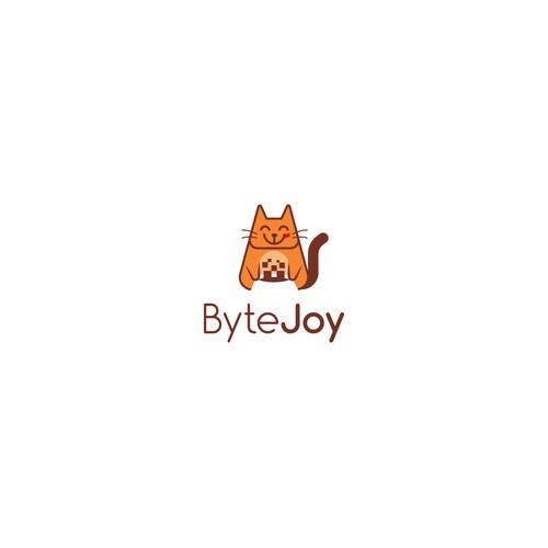 un, bright, colorful logo for ByteJoy