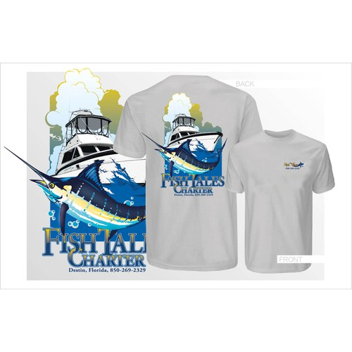 t-shirt design required - Fishing Charter Boat