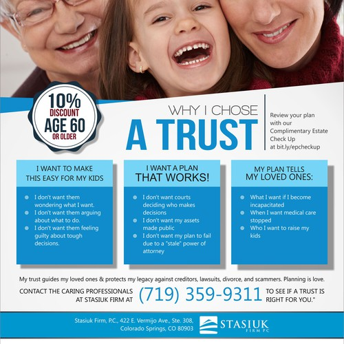 Full page ad for family protection via estate planning