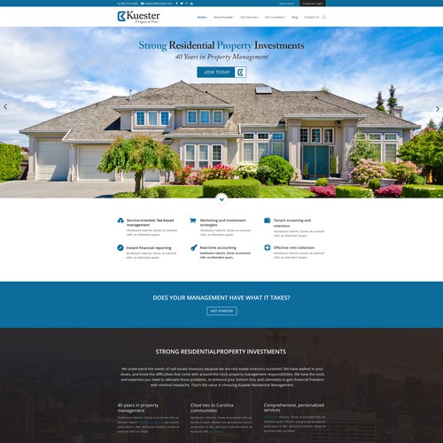 Residential Management Website