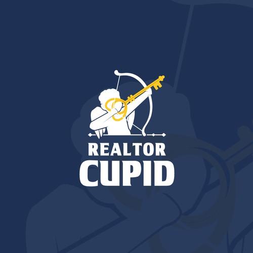 Eyecatching Cupid for Realtor Logo