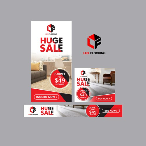 Lux Flooring Huge Sale Banner Ad