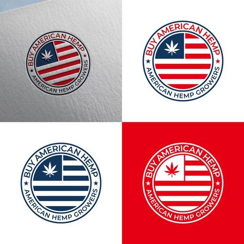 Buy American Hemp logo design
