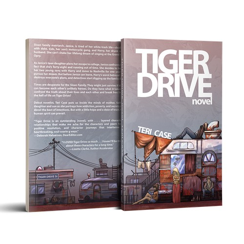 cover design for the novel Tiger Drive