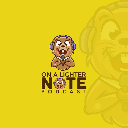 ON A LIGHTER NOTE PODCAST LOGO CONCEPT