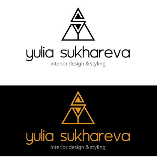 Create a bold and refined logo for a classy interior designer