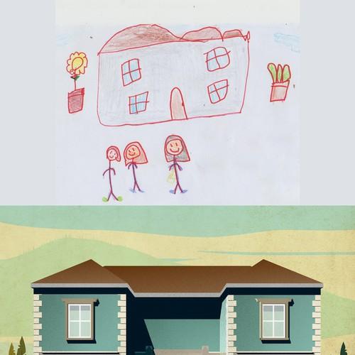kid's drawing remake