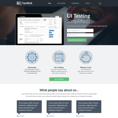 Design for TestKick
