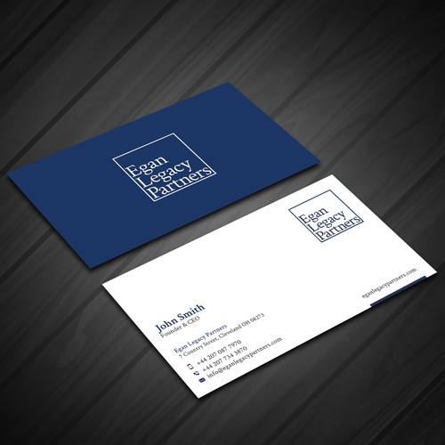 Exclusive Horizontal Business Card Design