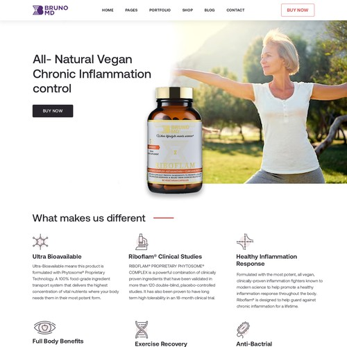 Brunomd website design
