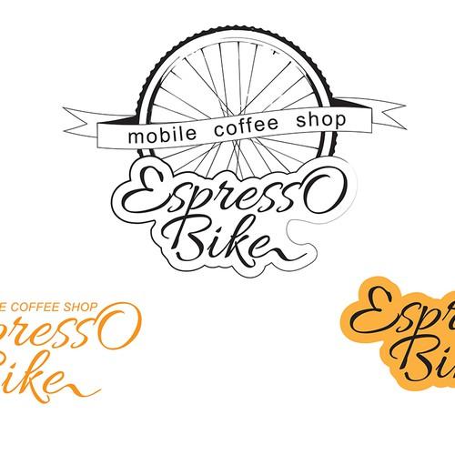 Creative daring mobile coffee shop logo