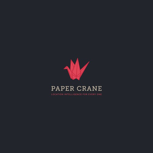 Logo concept for papercrane