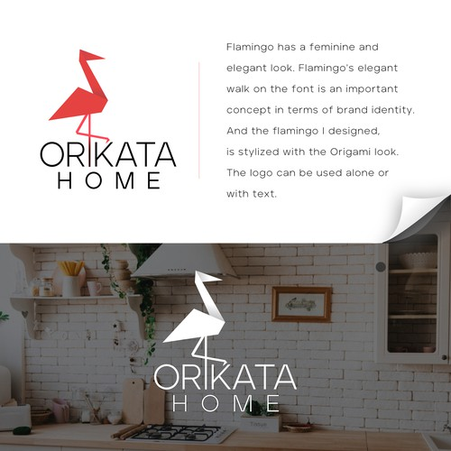 Orikata Home Logo design