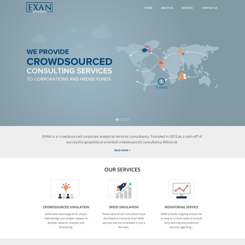 clean infographic index page design