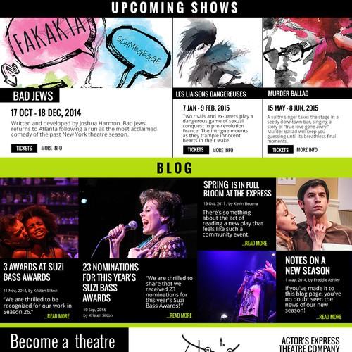 Creative Theater Website, Optimized for Conversion - Actor's Express, Atlanta, GA