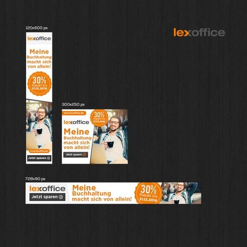 Lexoffice - Banner ad set