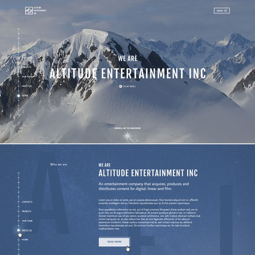 Website for Altitude Entertainment