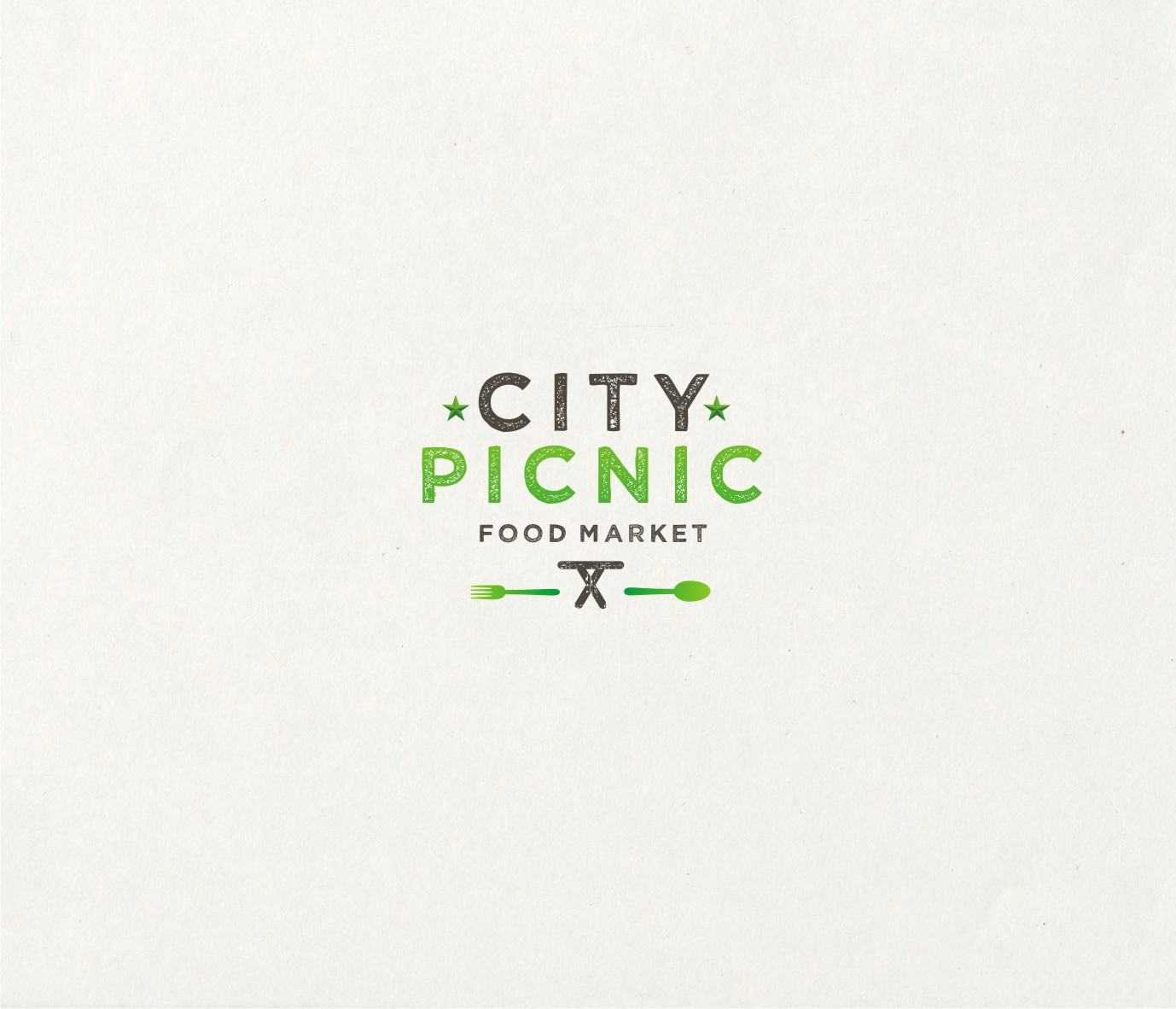 Create a logo for a cool new outdoor food market - City Picnic