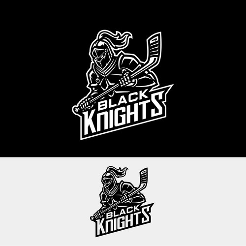 Logo concept for Hockey team Black Knights