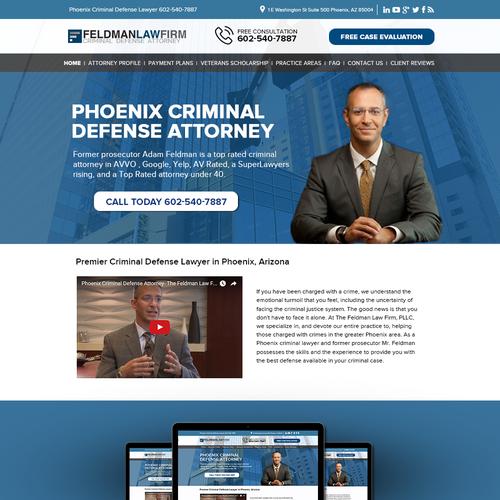 Professional Header for Feldman Law Firm