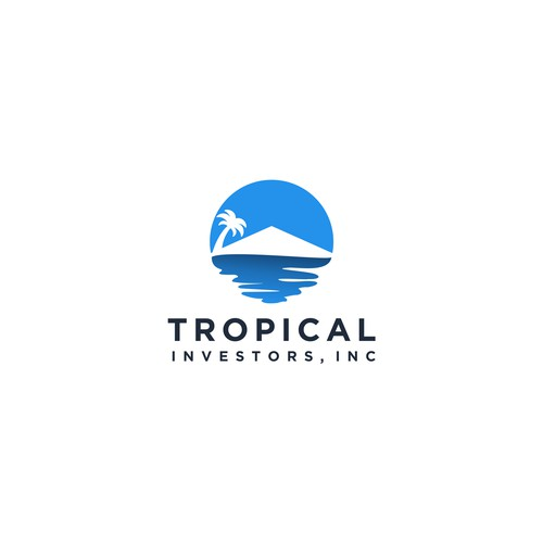 Real Estate Logo with Tropical Twist