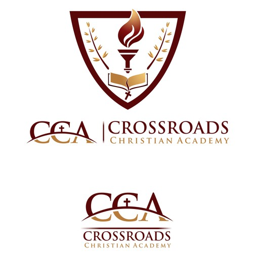 Create the next logo for Crossroads Christian Academy