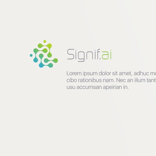 Logo concept for software and appliance provider for Deep Neural Networks