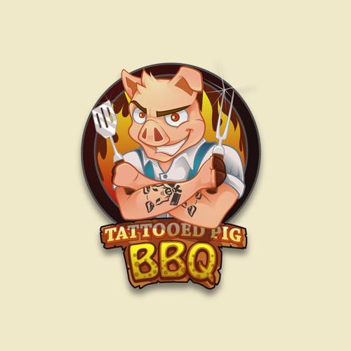 Grilling Mascot Design